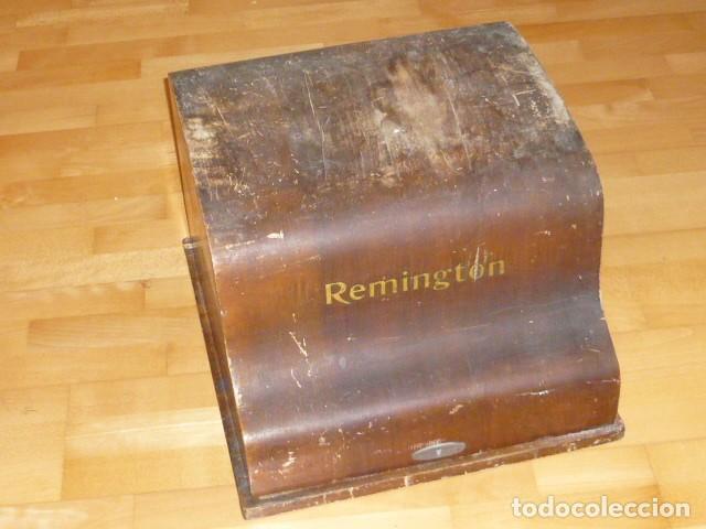 RARISIMA MAQUINA DE ESCRIBIR REMINGTON STANDARD 10 CON SU CAJA ORIGINAL DE MADERA (Antigüedades - Técnicas - Máquinas de Escribir Antiguas - Remington)