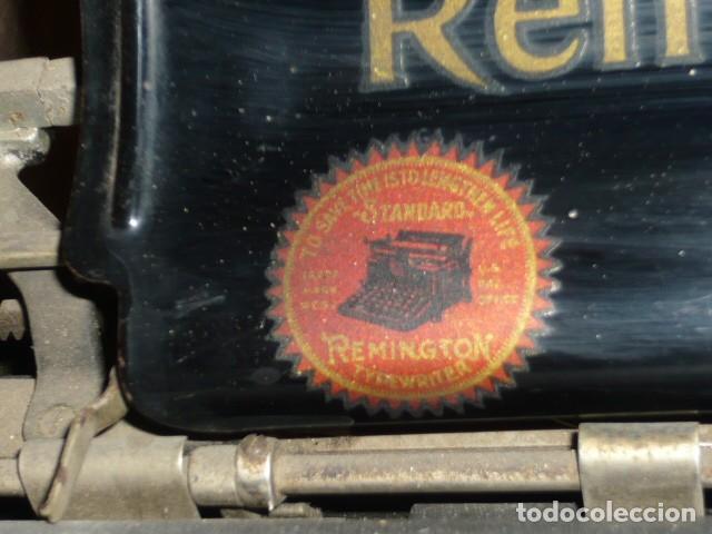 Antigüedades: RARISIMA MAQUINA DE ESCRIBIR REMINGTON STANDARD 10 CON SU CAJA ORIGINAL DE MADERA - Foto 4 - 224666038