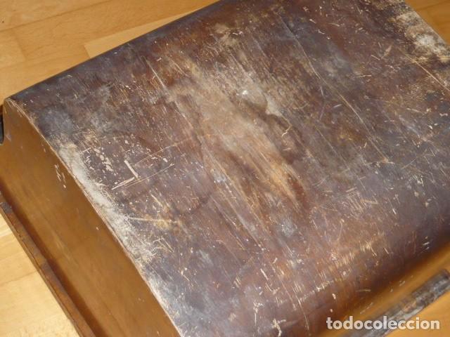 Antigüedades: RARISIMA MAQUINA DE ESCRIBIR REMINGTON STANDARD 10 CON SU CAJA ORIGINAL DE MADERA - Foto 7 - 224666038