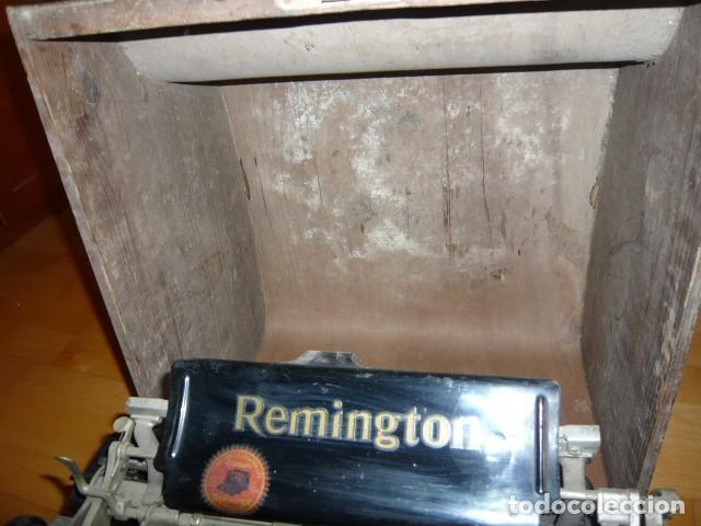 Antigüedades: RARISIMA MAQUINA DE ESCRIBIR REMINGTON STANDARD 10 CON SU CAJA ORIGINAL DE MADERA - Foto 13 - 224666038
