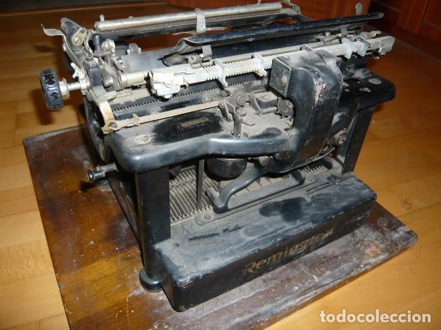 Antigüedades: RARISIMA MAQUINA DE ESCRIBIR REMINGTON STANDARD 10 CON SU CAJA ORIGINAL DE MADERA - Foto 22 - 224666038