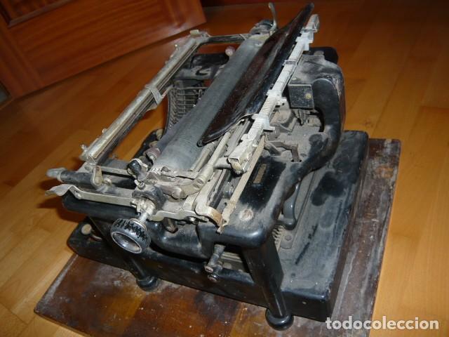 Antigüedades: RARISIMA MAQUINA DE ESCRIBIR REMINGTON STANDARD 10 CON SU CAJA ORIGINAL DE MADERA - Foto 23 - 224666038