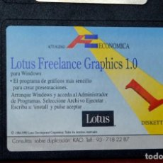 "Antigüedades: SOFTWARE VINTAGE ORIGINAL PC DISCOS 3´5"" LOTUS FREELANCE GRAPHICS 1,0 (FOT 2-61). Lote 224691195"