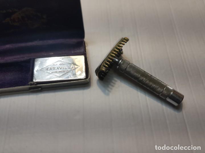 Antigüedades: Maquinilla de afeitar Maravilla completa y en caja original - Foto 2 - 224764052