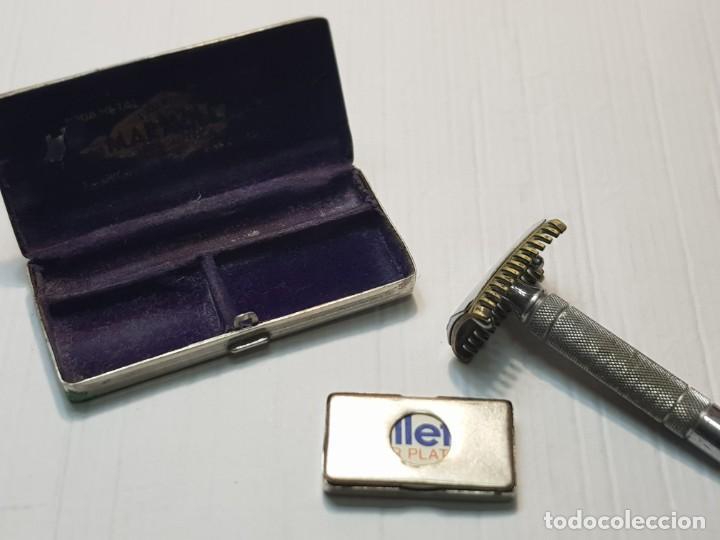 Antigüedades: Maquinilla de afeitar Maravilla completa y en caja original - Foto 3 - 224764052