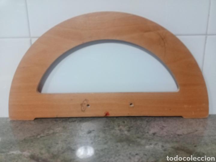 Antigüedades: Vintage. Antiguo transportador de ángulos de madera. - Foto 6 - 224766693