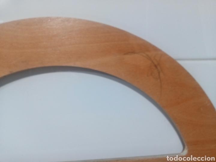 Antigüedades: Vintage. Antiguo transportador de ángulos de madera. - Foto 8 - 224766693