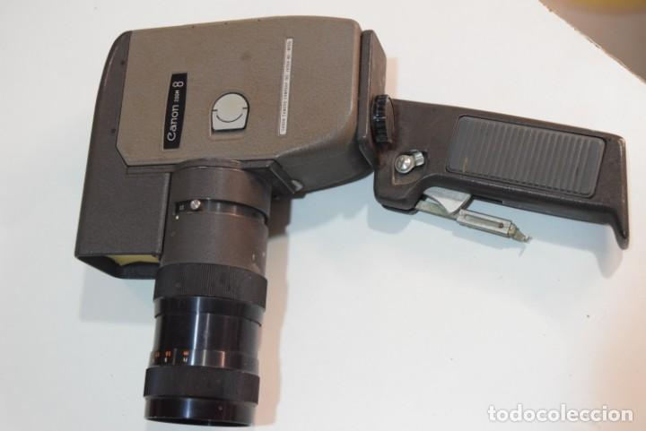 Antigüedades: Canon zoom 8. Pintyura martelé.con empuñadura. - Foto 2 - 224891465