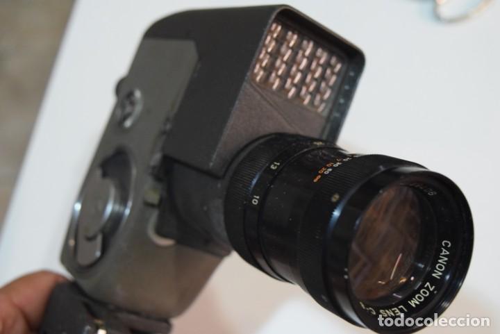 Antigüedades: Canon zoom 8. Pintyura martelé.con empuñadura. - Foto 3 - 224891465