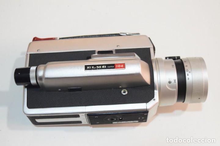 ELMO SUPER 104 (Antigüedades - Técnicas - Aparatos de Cine Antiguo - Cámaras de Super 8 mm Antiguas)