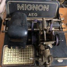 Oggetti Antichi: MAQUINA ESCRIBIR MIGNON ALEMANIA 1928 PARA REPARAR O RECAMBIOS. Lote 224910020