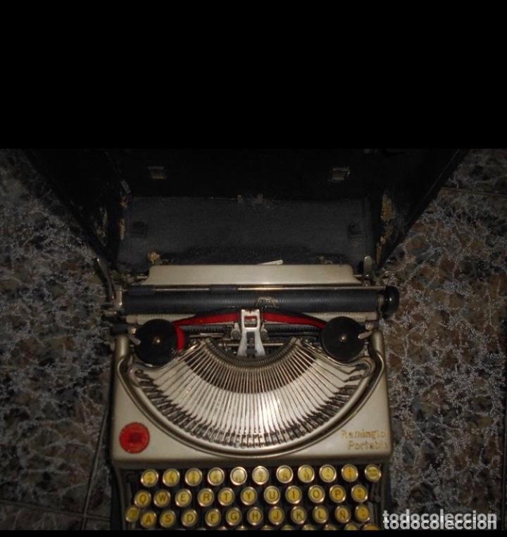 Antigüedades: Antigua maquina de escribir portatil Remington Portable CREO MODELO 5 FUNCIONANDO - Foto 6 - 224916781