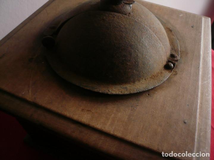 Antigüedades: ANTIGUO MONILLO DE CAFÉ. FRANCIA. MADERA Y METAL. TAMAÑO GRANDE - Foto 8 - 225048525