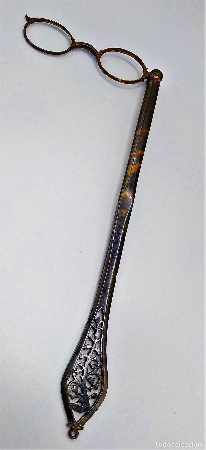 IMPERTINENTES. PLEGABLES. CAREY TALLADO. ESPAÑA. SIGLO XIX (Antigüedades - Técnicas - Instrumentos Ópticos - Gafas Antiguas)