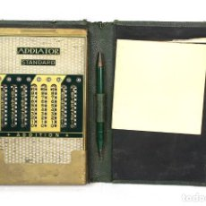 Antigüedades: ANTIGUA CALCULADORA ADDIATOR- CON FUNDA -LIBRETA-ORIGINAL. Lote 225183650