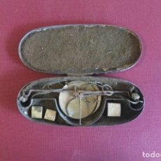 Antigüedades: CAJA DE PONDERALES MONETARIOS 1776. Lote 225192722