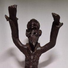 Antigüedades: ESCULTURA EN HIERRO FORJADO DE GERARDO ALEGRE TURAT. Lote 225276712