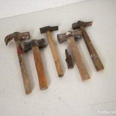 Antigüedades: LOTE DE 6 MARTILLOS, ANTIGUOS O VINTAGE. Lote 225280040