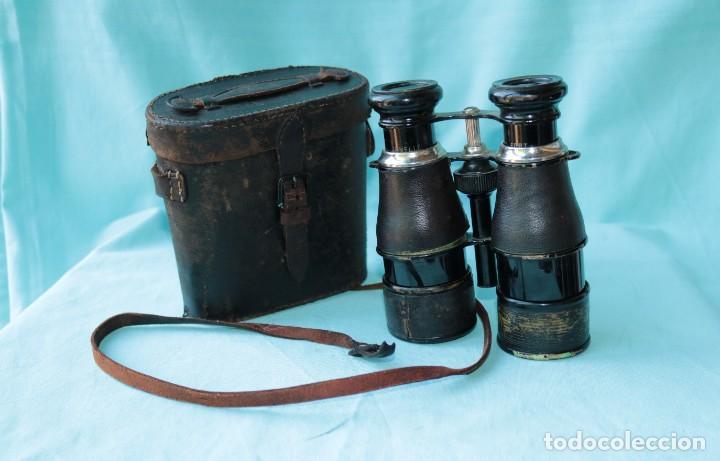 Antigüedades: Binoculares militares antiguos francesas . Antique french military binoculars. - Foto 2 - 57712541