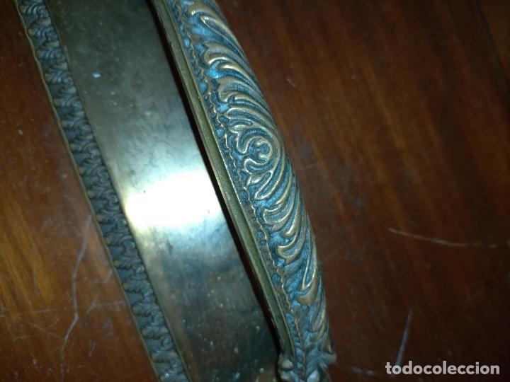 Antigüedades: 4 gigantes tiradores metal 28,5x5,9 cm para cajones o puertas correderas armarios comodas portones - Foto 3 - 225359915