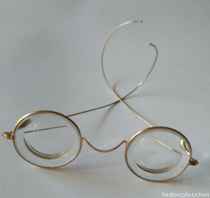 ANTIGUAS LENTES GAFAS EN ORO DE 12KILATES ?.MARCA STOCO V/10 - 12 (Antigüedades - Técnicas - Instrumentos Ópticos - Gafas Antiguas)