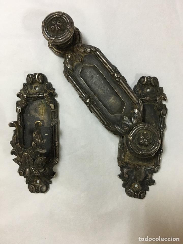 Antigüedades: Pestillo antiguo para puerta - Foto 2 - 225474743
