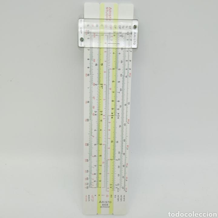 Antigüedades: Regla de cálculo de precisión Aristo Studio 868, año 1963 Aristo-Werke, Aristopal, Slide Rule - Foto 2 - 225572245