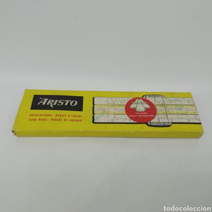 Antigüedades: Regla de cálculo de precisión Aristo Studio 868, año 1963 Aristo-Werke, Aristopal, Slide Rule - Foto 10 - 225572245
