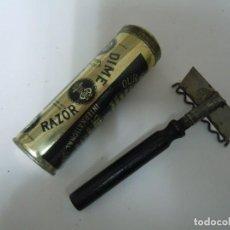 Antigüedades: MAQUINILLA AFEITAR VINTAGE DIME RAZOR MADE IN USA SIN USO RARÍSIMA 1907. Lote 225590565