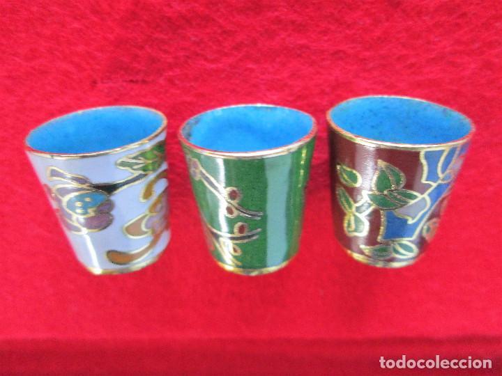 Antigüedades: LOTE DE 3 DEDALES DE COLECCIÓN ESMALTADOS EN CLOISONNÉ - Foto 2 - 225706115