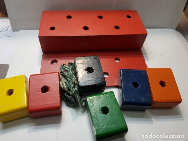 Antigüedades: Magia Caja Cubos de madera y cuerda original de Mago años 40-50 - Foto 2 - 225710140
