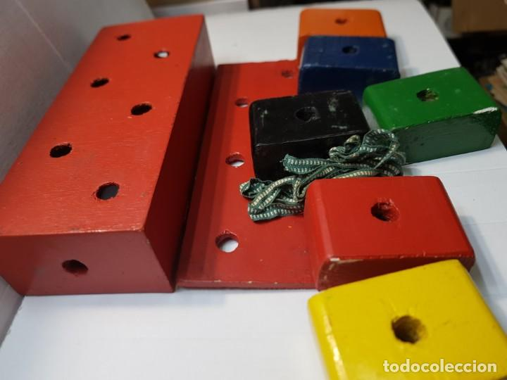Antigüedades: Magia Caja Cubos de madera y cuerda original de Mago años 40-50 - Foto 3 - 225710140