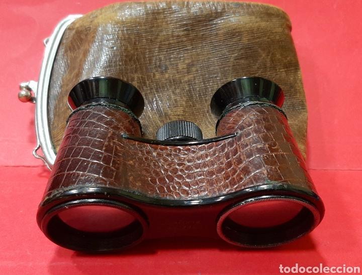 BINOCULARES CARL ZEISS DE JENNA DE PIEL EN SU ESTUCHE. (Antigüedades - Técnicas - Instrumentos Ópticos - Catalejos Antiguos)