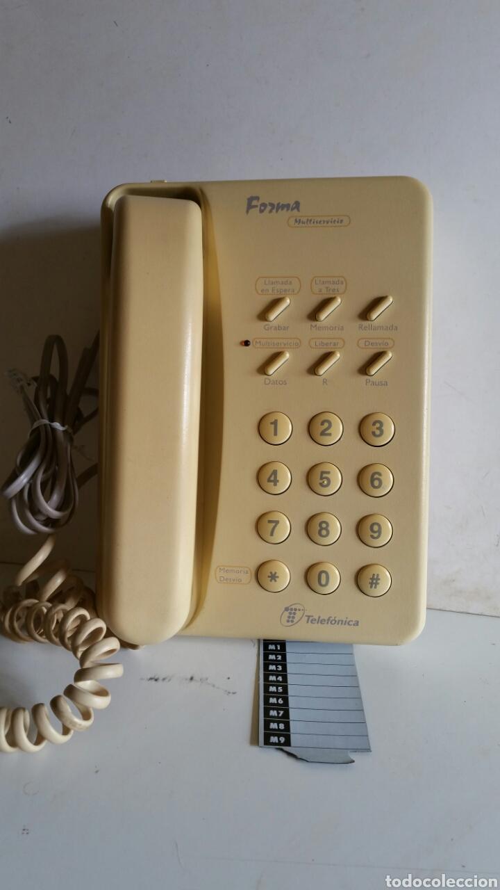 TELEFONO MULTISERVICIO DE TELEFONICA / MODELO FORMAS / FABRICADO POR ALCATE.. FUNCIONANDO. (Antigüedades - Técnicas - Teléfonos Antiguos)