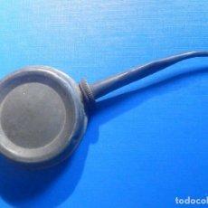 Antigüedades: ANTIGUO ENGRASADOR - ALCUZA METÁLICA - ACEITERA - COMPLETA CON TAPÓN A ROSCA Y JUNTA -. Lote 225793475