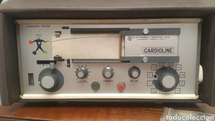 Antigüedades: ANTIGUO CARDIOGRAFO - CARDIOLINE EPSILON - FUNCIONA - Foto 2 - 225919567