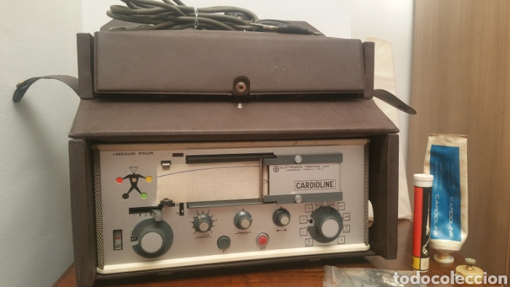 Antigüedades: ANTIGUO CARDIOGRAFO - CARDIOLINE EPSILON - FUNCIONA - Foto 3 - 225919567