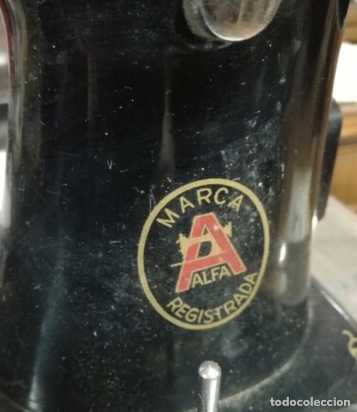 Antigüedades: Cabeza de Máquina de Coser Alfa - Foto 2 - 225973340