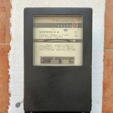 Antigüedades: CONTADOR DE ELECTRICIDAD MARCA SIEMENS. Lote 226082665