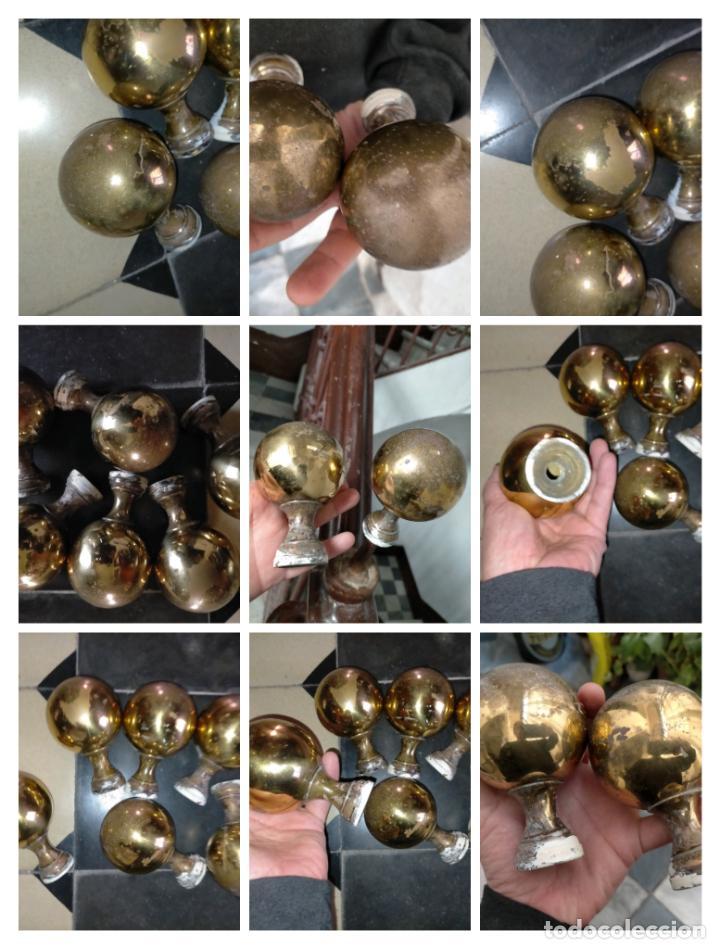 POMOS ESCALERAS BALCONES PUERTAS TIRADORES PASAMANOS ESQUINERAS DE METAL , 6 UNIDADES GRAN TAMAÑO - (Antigüedades - Técnicas - Cerrajería y Forja - Tiradores Antiguos)