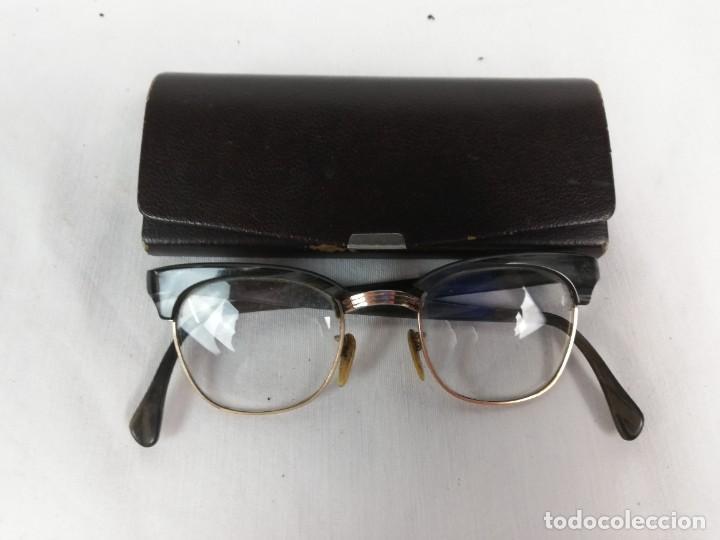 ANTIGUAS GAFAS + FUNDA ORIGINAL EN BUEN ESTADO (Antigüedades - Técnicas - Instrumentos Ópticos - Gafas Antiguas)
