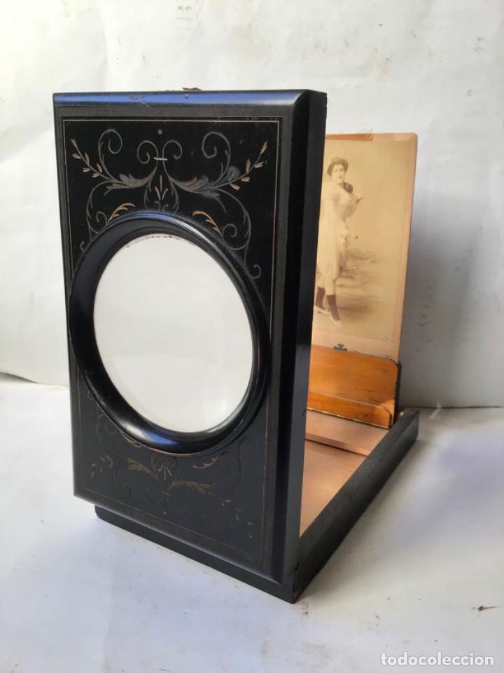 ANTIGUO GRAFOSCOPIO DEL SIGLO 19 , VISOR LUPA DE FOTOGRAFIA , SEGUNDO IMPERIO 1860 , PLEGABLE (Antigüedades - Técnicas - Otros Instrumentos Ópticos Antiguos)