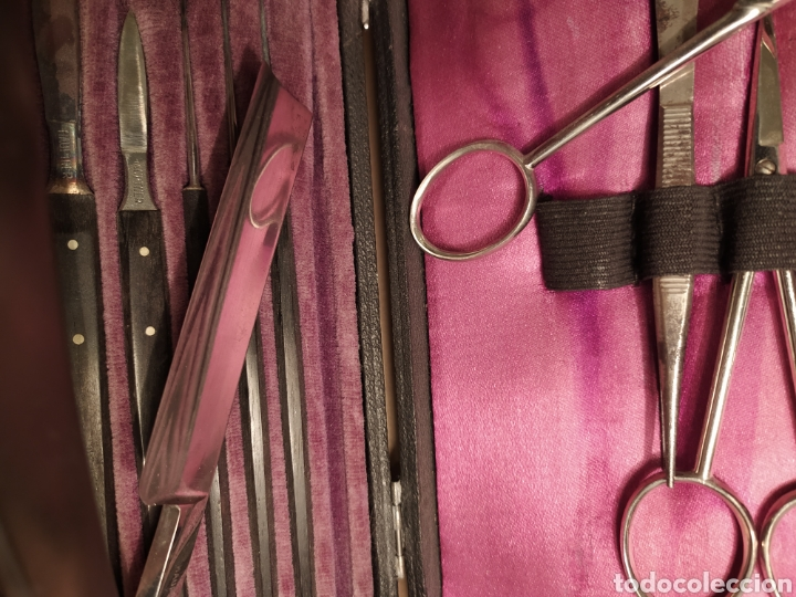 Antigüedades: Antigua caja instrumentos para microscopía 1900 Modelo Leitz Medicina Veterinaria Microscopio - Foto 3 - 226108650