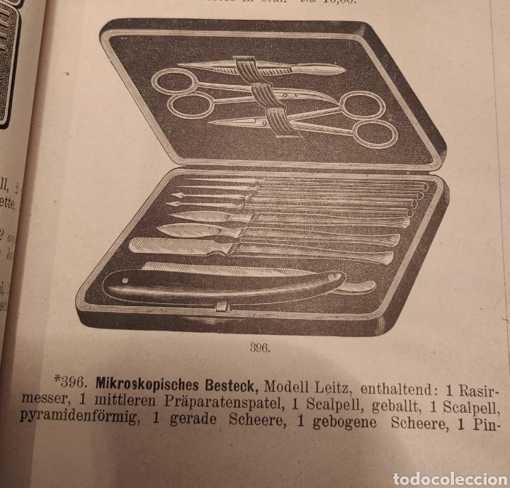 Antigüedades: Antigua caja instrumentos para microscopía 1900 Modelo Leitz Medicina Veterinaria Microscopio - Foto 6 - 226108650