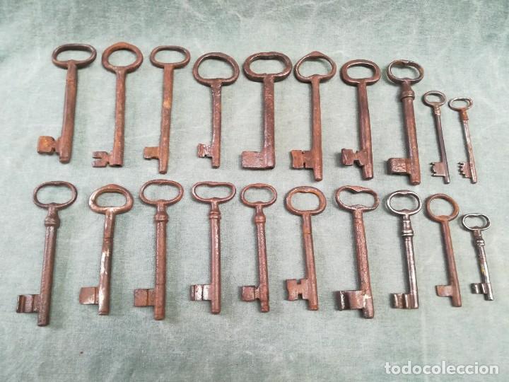 Antigüedades: LOTE DE 20 LLAVES ANTIGUAS - Foto 8 - 226380280