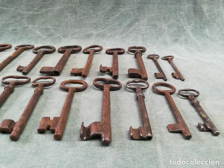 Antigüedades: LOTE DE 20 LLAVES ANTIGUAS - Foto 16 - 226380280