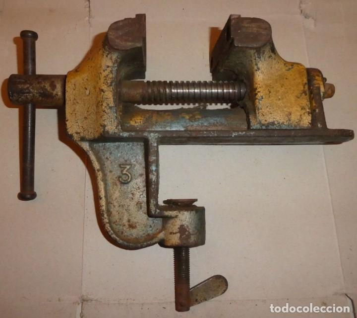 TORNILLO DE BANCO CON SUJECIÓN (Antigüedades - Técnicas - Herramientas Profesionales - Mecánica)