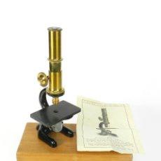 Antigüedades: ANTIGUO MICROSCOPIO TRIQUINA AÑO 1920 ANTIQUE MICROSCOPE MIKROSKOP. Lote 226394970