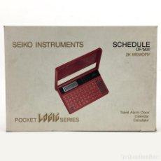Antigüedades: SEIKO SCHEDULE DF-1200 COMPLETO EN CAJA CON MANUAL ALARMA CALCULADORA CALENDARIO MEMORANDUM PERFECTO. Lote 226401720
