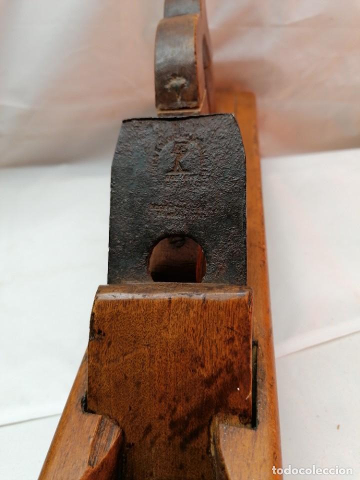 Antigüedades: Antigua garlopa de gran tamaño - Foto 5 - 226446491